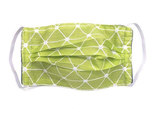 Masque Adulte en tissu lavable - Modèle vert anis