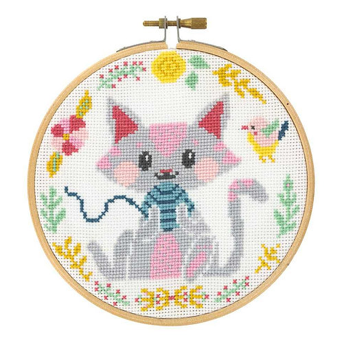 Kit point de croix Petit chat