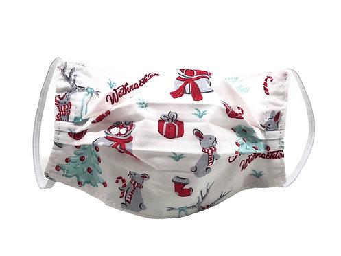 Masque enfant en tissu lavable - Modèle Noël