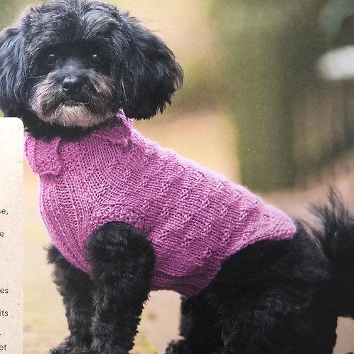 Pull tricoté pour petit chien -  Taille S