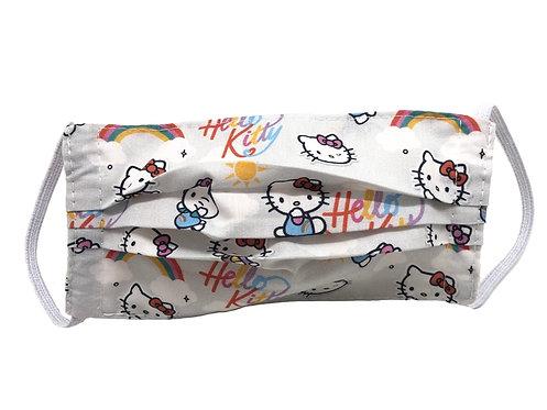 Masque enfant en tissu lavable - Modèle Hello Kitty