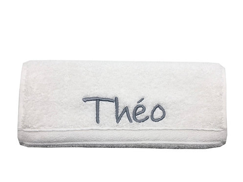 Serviette éponge brodée - Théo