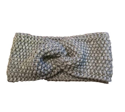 Bandeau tricoté main en laine