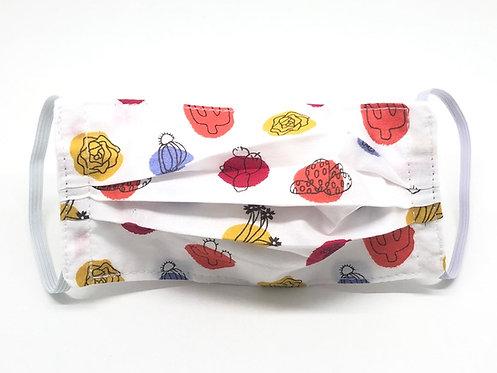 Masque enfant en tissu lavable - Modèle plante