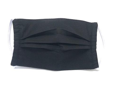 Masque Adulte en tissu lavable - Modèle uni noir