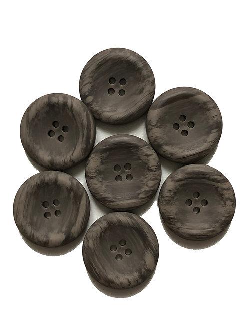 Lot de 7 boutons diamètre 22mm bruns