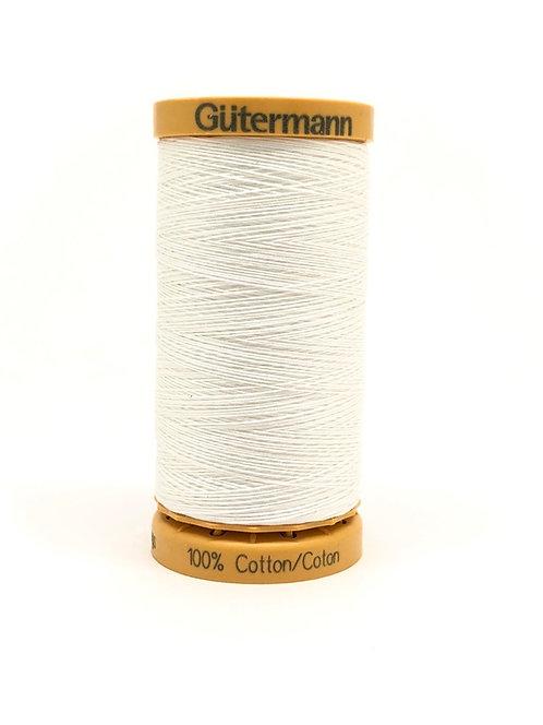 Fil à coudre 100% coton - 250m BLANC / Col.5709 Gütermann