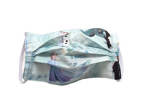 Masque enfant en tissu lavable - Modèle reine des neige