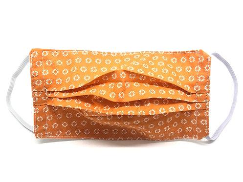 Masque Adulte en tissu lavable - Modèle orange