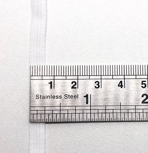 Elastique blanc en 6mm - Vendu au mètre