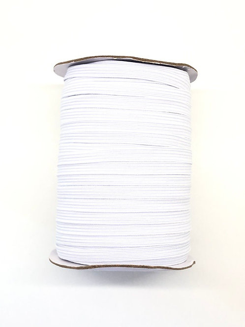 Elastique blanc en 8mm - Vendu au mètre