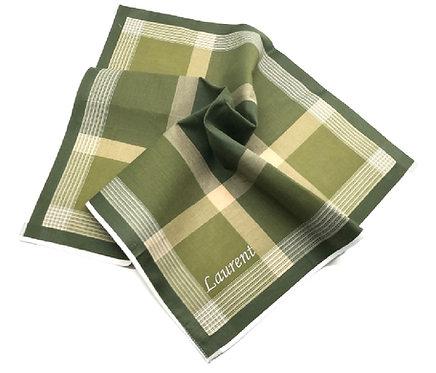 Mouchoir en tissu vert - personnalisé