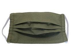 Masque Adulte en tissu lavable - Modèle uni kaki