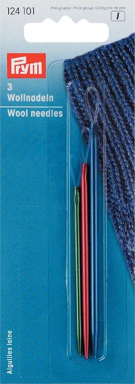 Aiguilles pour laine en aluminium - assortiment de 3 pièces