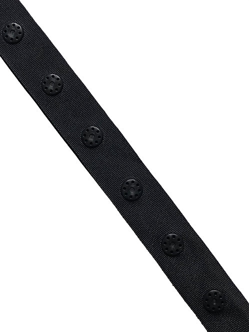 Ruban pression 18mm noir - Tarif au mètre
