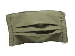 Masque enfant en tissu lavable - Modèle uni kaki
