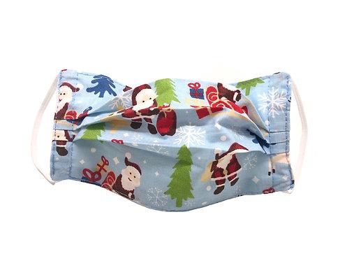 Masque enfant en tissu lavable - Modèle Père Noël