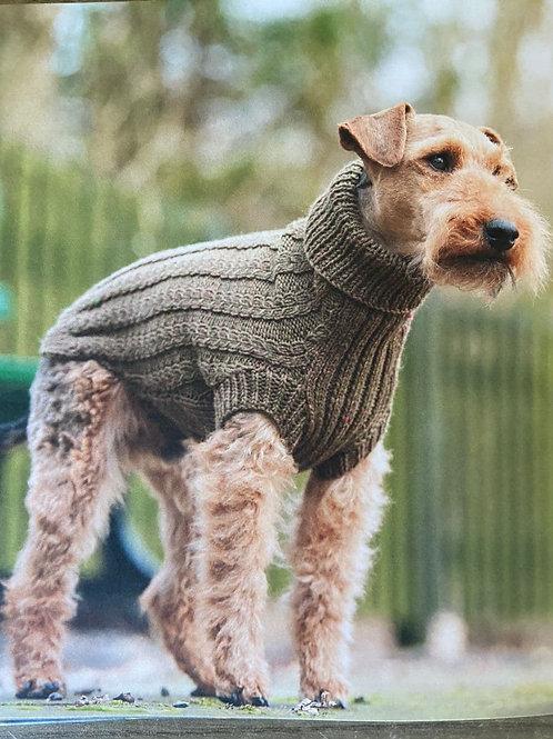 Pull tricoté pour chien -  Taille M