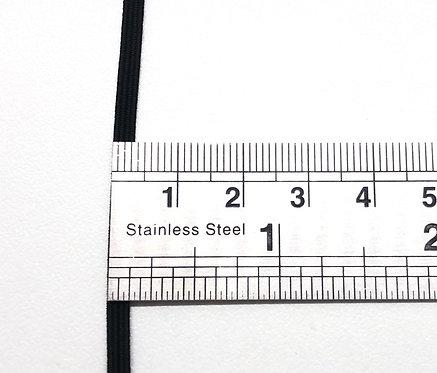 Elastique noir en 3 mm - Vendu au mètre
