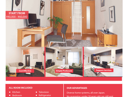 Free Initial Cost Apartments in Japan