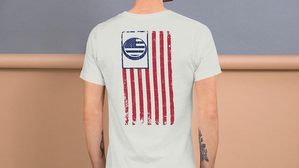 Last Patriot Logo Flag Tee