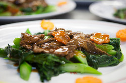 Tenderloin with Chinese Broccoli