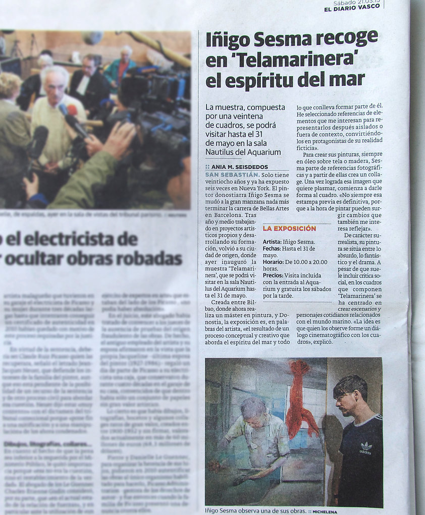 El Diario Vasco. 21st March Saturday, 2015.