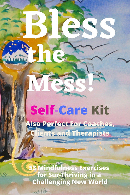 Bless the Mess Self-Care Kit Mindfulness Card Deck