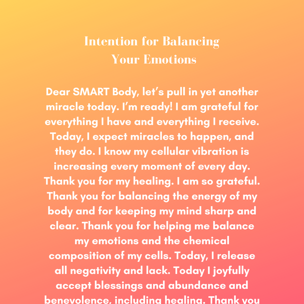 Intention for Balancing Your Emotions