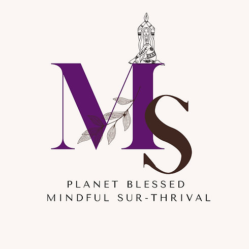 Mindful Surthrival Logo with Floral Elem