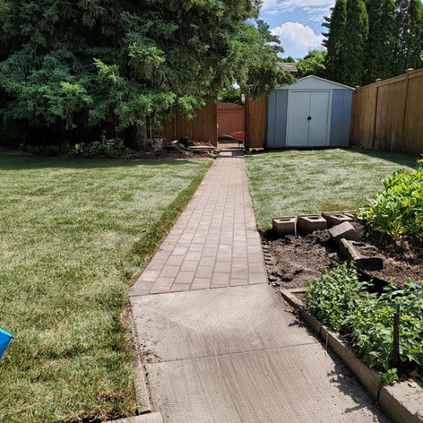 Location 1- Patio Stone Path