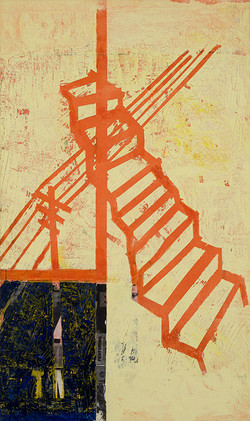 Escalera sobre tentido