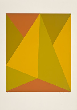 Triangulaire jaune-orange