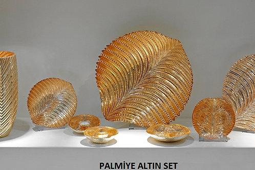 PALMİYE ALTIN DESEN SET