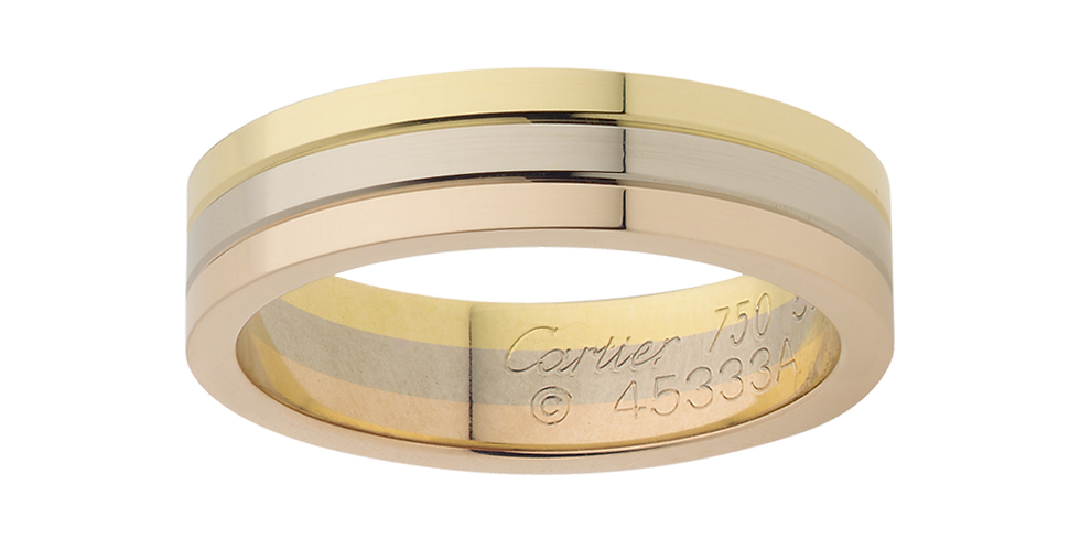 Cartier Three-Gold Wedding band