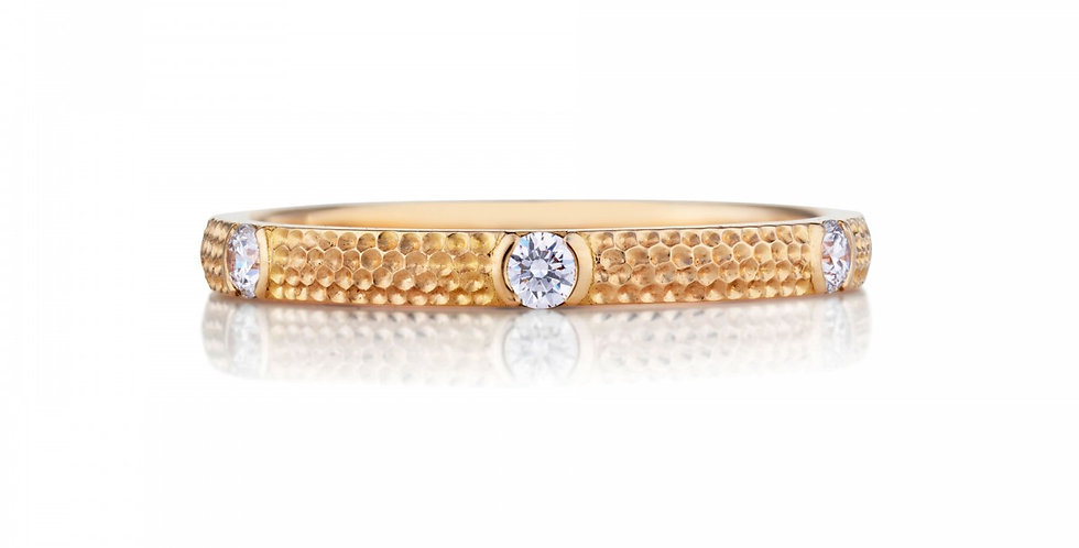 AZULEA 6 DIAMONDS BAND PINK GOLD