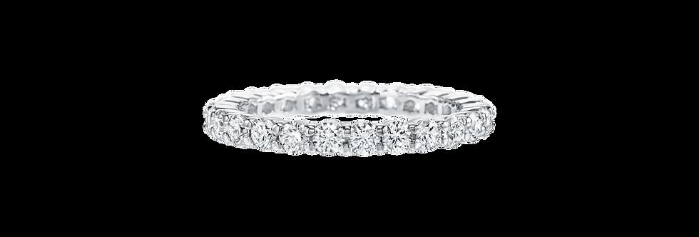 Prong-Set Round Brilliant Diamond Wedding Band