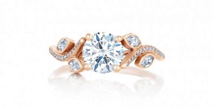 ADONIS ROSE PINK GOLD SOLITAIRE RING