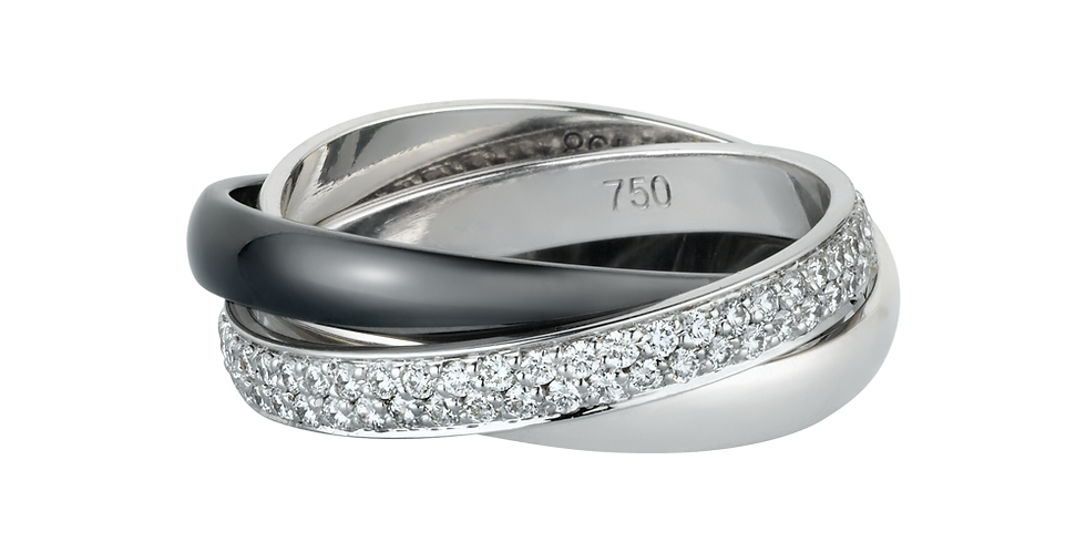 Cartier Black&White Trinity Wedding band