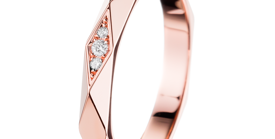 Boucheron Facette Pink Gold Wedding Band