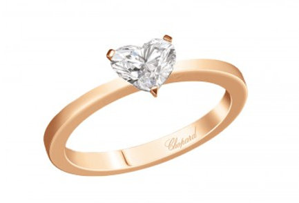 CHOPARD FOR EVER RING Heart Shape 0.7 ct.