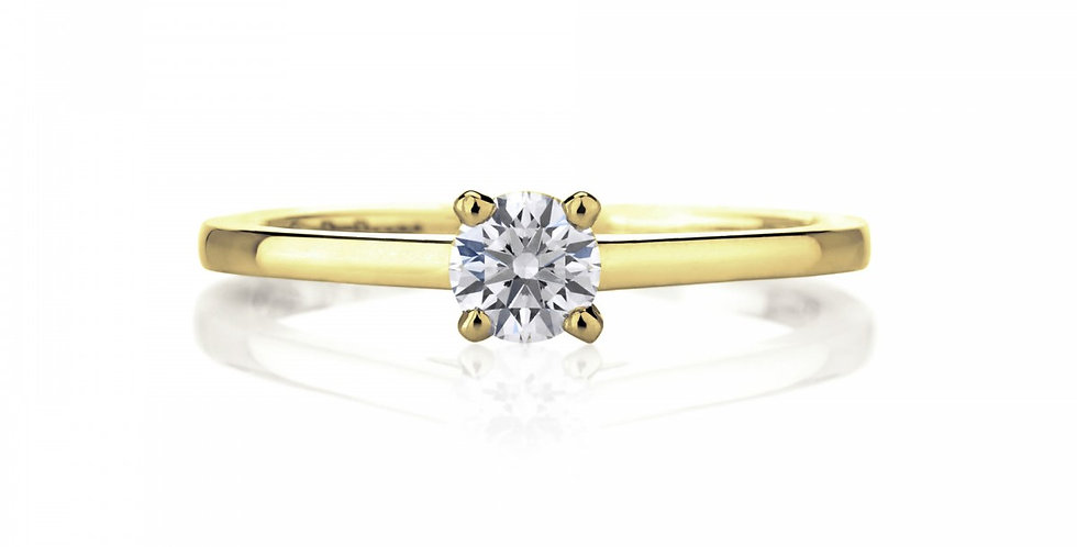 DB CLASSIC SOLITAIRE YELLOW GOLD RING