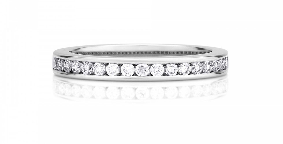HALF CHANNEL-SET ETERNITY BAND 2.5MM