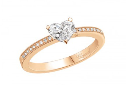 CHOPARD FOR EVER RING PAVÉ Heart Shape 0.7 ct.