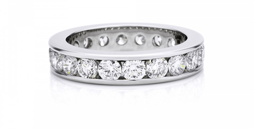 CHANNEL SET FULL ETERNITY BAND 4MM