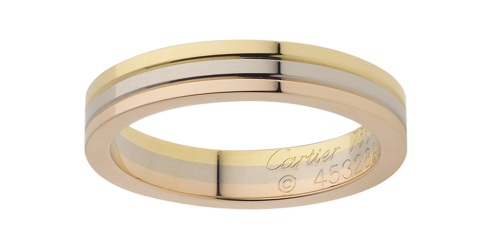 Cartier Three-Gold Wedding band