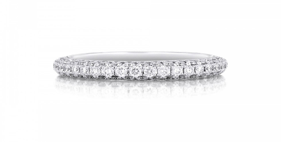 DB DARLING HALF PAVÉ ETERNITY BAND