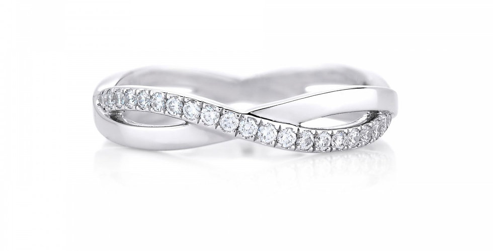 INFINITY WHITE GOLD BAND