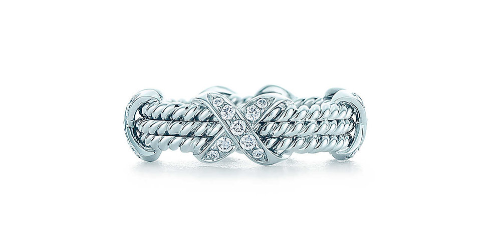 TIFFANY & CO. SCHLUMBERGER Rop Three-row X Ring