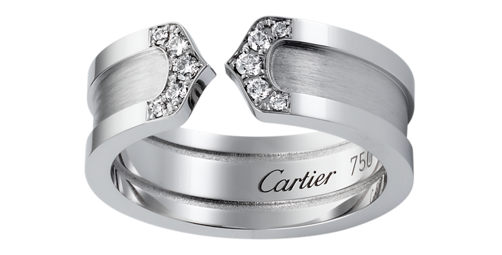 Logo Cartier Double C Wedding band